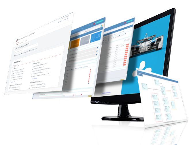 PC Monitor with expanded images WealthWorks+
